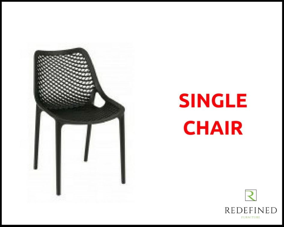 1 Polyprop Stacking Outdoor Chair in a Choice of Colours RF06ODF-008