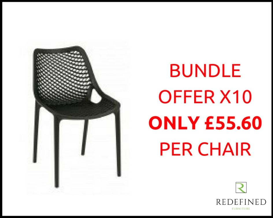 10 Polyprop Stacking Outdoor Chair in a Choice of Colours RF06ODF-010