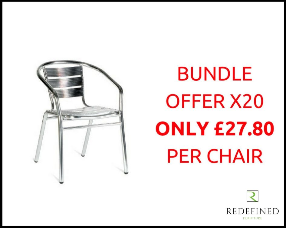 20 Aluminium Slat Stacking Armchair in a Anodised Finish RF06ODF-006