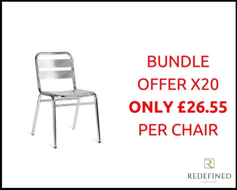 20 Aluminium Slat Stacking Side Chair in a Anodised Finish RF06ODF-007