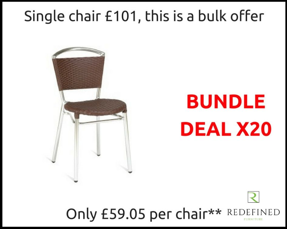 20 Weave Stacking Side Chairs in a Faux Brown Leather on a Aluminium Frame RF06ODF-021