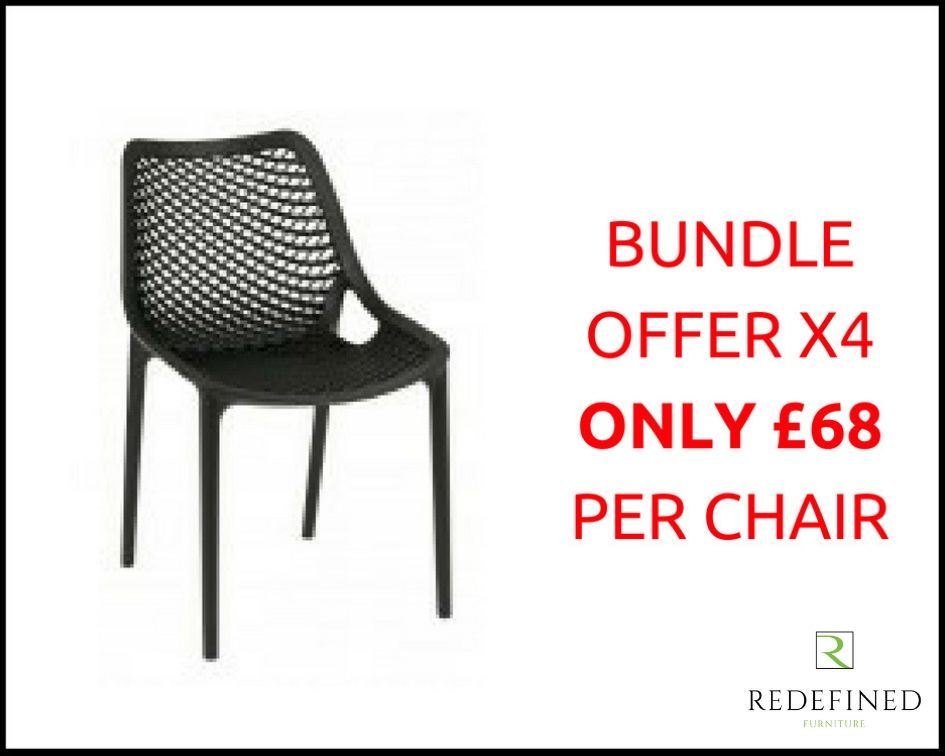 4 Polyprop Stacking Outdoor Chair in a Choice of Colours RF06ODF-009