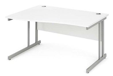 Cantilever Leg|Wave Desk|1400mm|Heat Resistant Finish | 5 Different Colour Tops Available