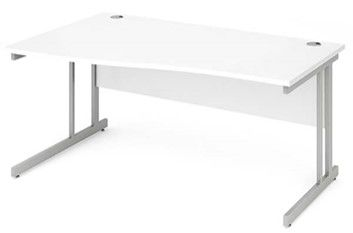 Cantilever Leg Wave Desk|1600mm|Heat Resistant Finish. Oak, Light Walnut, White & Beech Top