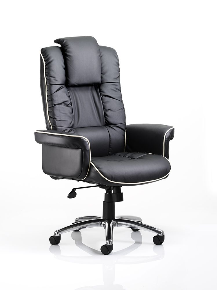 Chelsea Executive Chair with Gull Wing Armrests - Cushioned Chair High Back Various Leather Colours