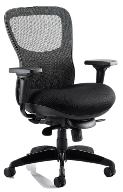 Stealth Ergonomic Posture Chair Black Airmesh Seat Mesh Backrest Upholstered Seat Arms