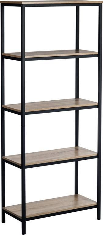 TEKNIK INDUSTRIAL STYLE 4 Shelf Bookcase With Black Metal Frame