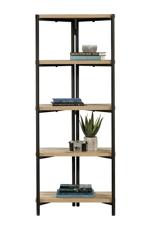 TEKNIK INDUSTRIAL STYLE Chunky 4 Shelf Bookcase With Black Metal Frame