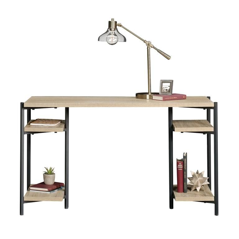 TEKNIK INDUSTRIAL STYLE Chunky Desk With Black Metal Frame