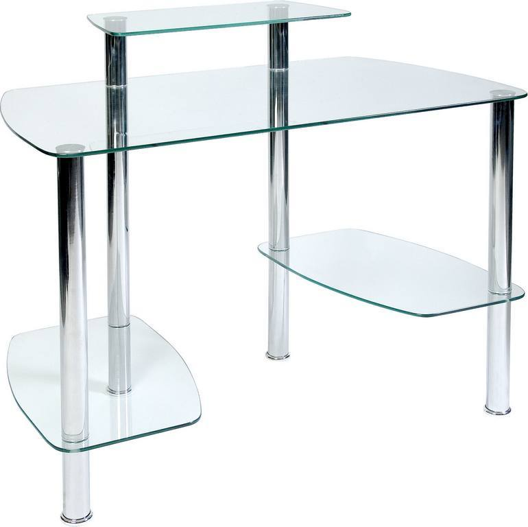TEKNIK WORKSTATION Table With Glacier Tempered Glass